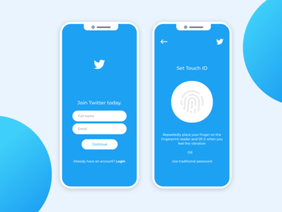 Twitter Signup with Touch ID - Experimental | Login design, Corporate web design, Portfolio web design