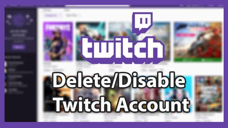 Hoe Twitch Account Verwijderen - Galaxy marketing