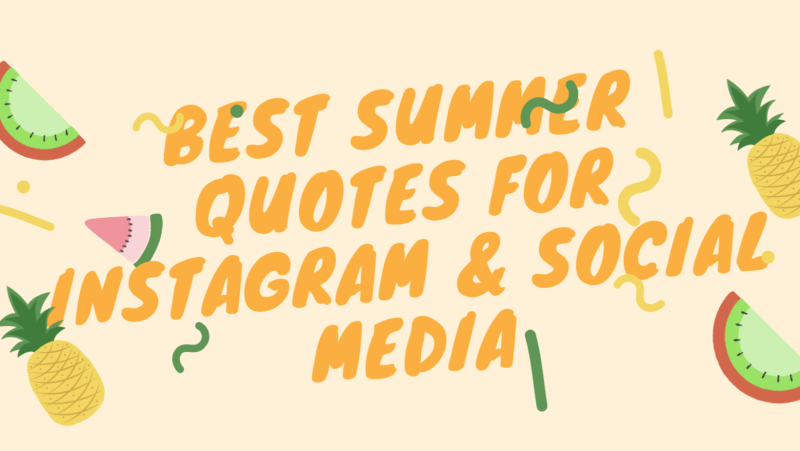 Best Summer Quotes for Instagram & Social Media