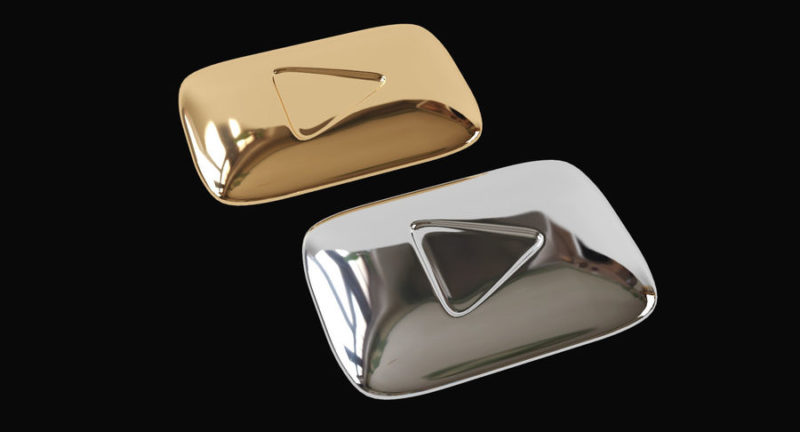 Youtube Gold &; Silver Play Buttons 3D Model $19 - .obj .max .fbx - Free3D